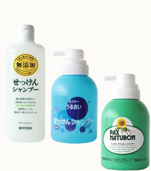 石鹸シャンプーの一例