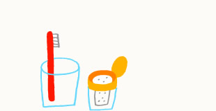 重曹を歯磨き粉として使う