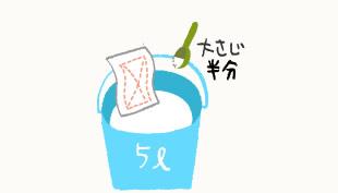 炭酸ソーダ溶液の作り方イラスト
