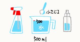セスキ炭酸ソーダ溶液のイラスト
